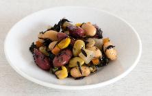 ひじき豆 ひじきと豆のサラダ。こんにゃくも入ってヘルシーで栄養満点。