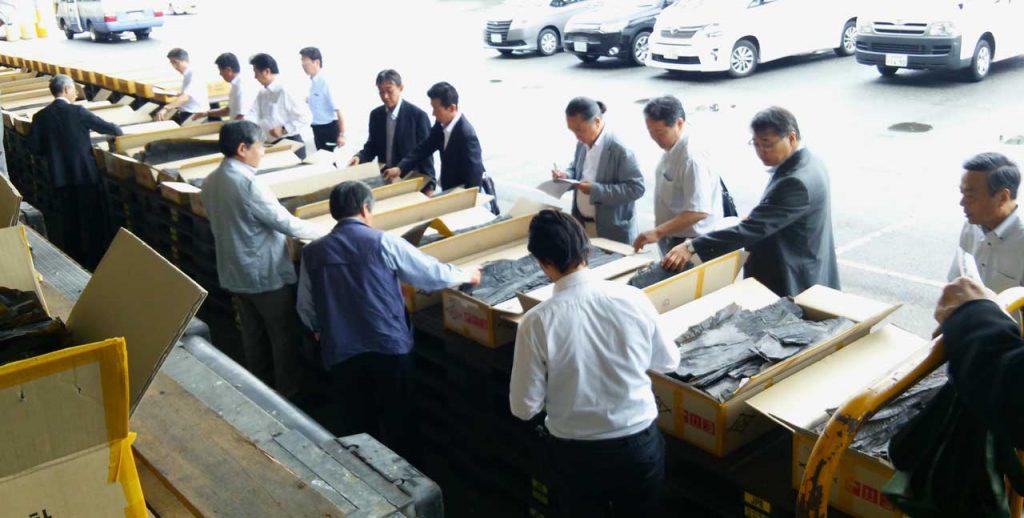 輸入昆布の検品会(神戸)